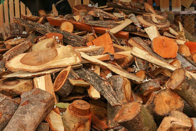 Full frame shot of firewood