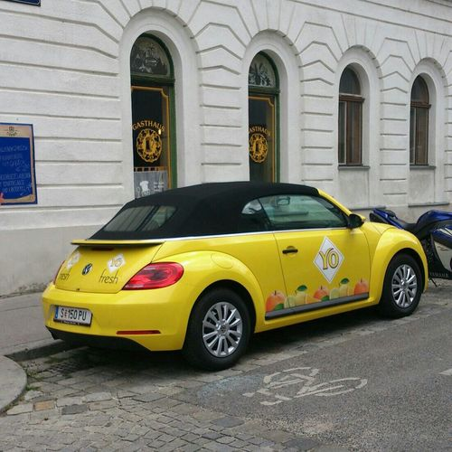 VW Beetle Yellow Juni 2014 Cars