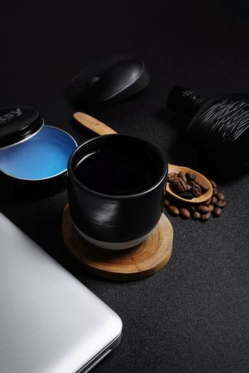 black Pomade Parfume Fragrance Rustic Wood Mug Cup Coffee Coffee Bean Simplicity Minimal Minimalism Product Photography