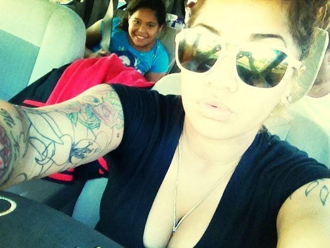 Lil sis in da back