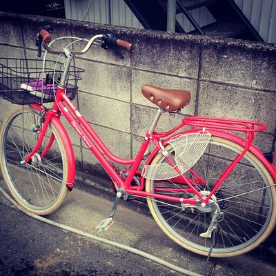 Mama chari (a bicycle which is commonly used by mothers and teenagers in japan) Bike Bicycle