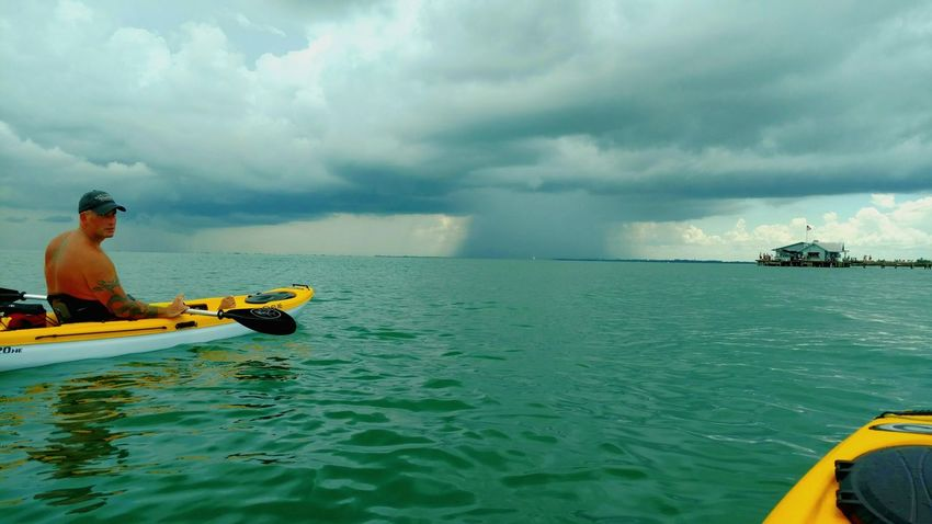 Anna Maria Island, Florida 06/25/2016 Awesome storm over the gulf! Kayaking Storm Cloud Rain Cloud Weather At One With Nature Ocean View Ocean Photography Recreational Activities  I Love Kayaking Kayak Seascape Gulf Of Mexico Tampa Bay Cool Pic Saltlife Enjoying Life I Love My Life Check This Out Ocean Life Paddler Travel Destinations West Coast Best Coast Beach Photography
