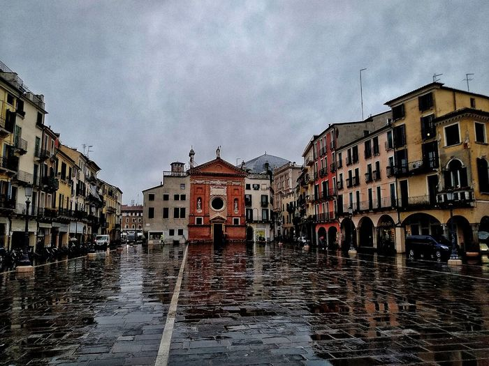 Padova, Aprile 2019 Hdr_Collection City Rain Reflection Sky And Clouds Architecture Building Exterior Built Structure
