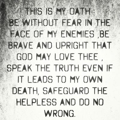 This is my oath. This is what I stand by, what makes me who I am. I'll be this way until the day I die. Myoath Whatistandfor Whoiam