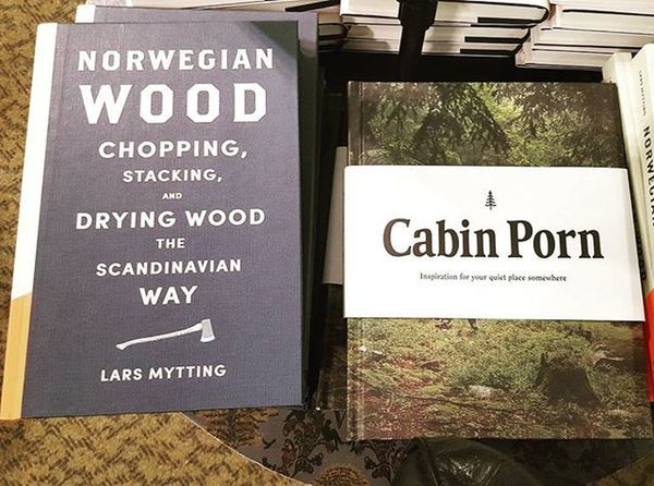 If only Ron Swanson was my uncle... but I'm sure he'd already own this Cabinporn NorwegianWood Bookporn Waterstones Wood