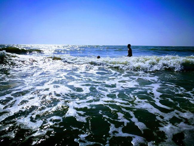 Summer, sea, salt water, vacation, Ukraine Vacations Azov Sea Childhood Outdoors Horizon Over Water