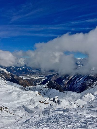 View from Kitzsteinhorn down to Zell am See / Kaprun Kitzsteinhorn Cloud - Sky Blue Sky Valley View Ski Resort  Kaprun Langwied EyeEm Selects EyeEm Selects Breathing Space Lost In The Landscape Second Acts Perspectives On Nature Shades Of Winter Shades Of Winter An Eye For Travel Go Higher Go Higher