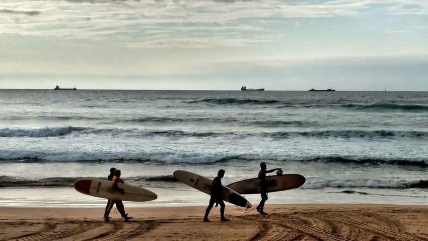 Surf Euskadi Euskal Herria Zierbena Laarena Playa Hondartza Sea Water Beach Land Sky Horizon Over Water Beauty In Nature