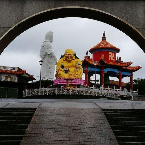 Buddha Arch Yellow Buddha Temple In Keelung Guanyin