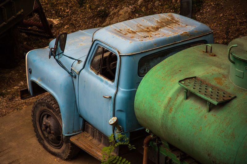 Mode Of Transportation Land Vehicle Transportation Motor Vehicle Abandoned Rusty Car
