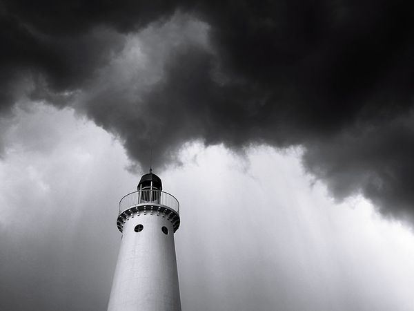 Weather Storm Lighthouse No People Architecture Outdoors Sky Thunderstorm Eyeem Philippines This Week On Eyeem Blackandwhite Monochrome The Week On EyeEm