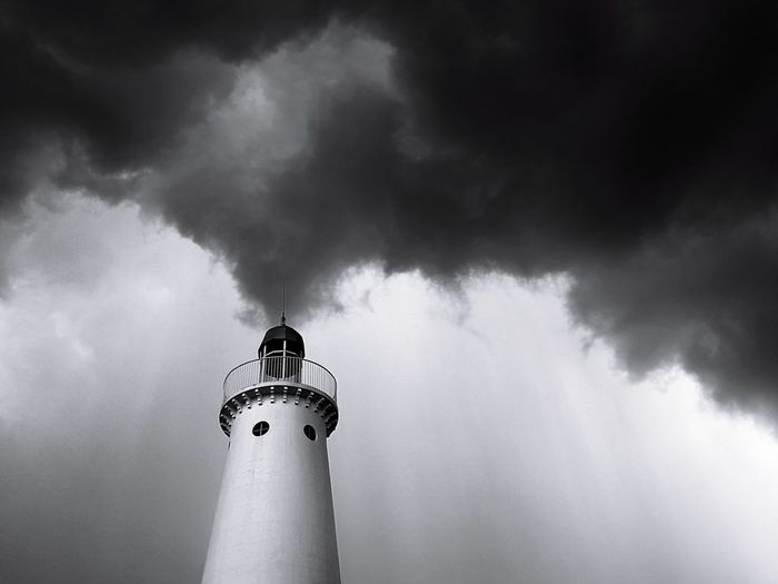 Weather Storm Lighthouse No People Architecture Outdoors Sky Thunderstorm Eyeem Philippines This Week On Eyeem Blackandwhite Monochrome The Week On EyeEm The Traveler - 2018 EyeEm Awards The Architect - 2018 EyeEm Awards The Great Outdoors - 2018 EyeEm Awards