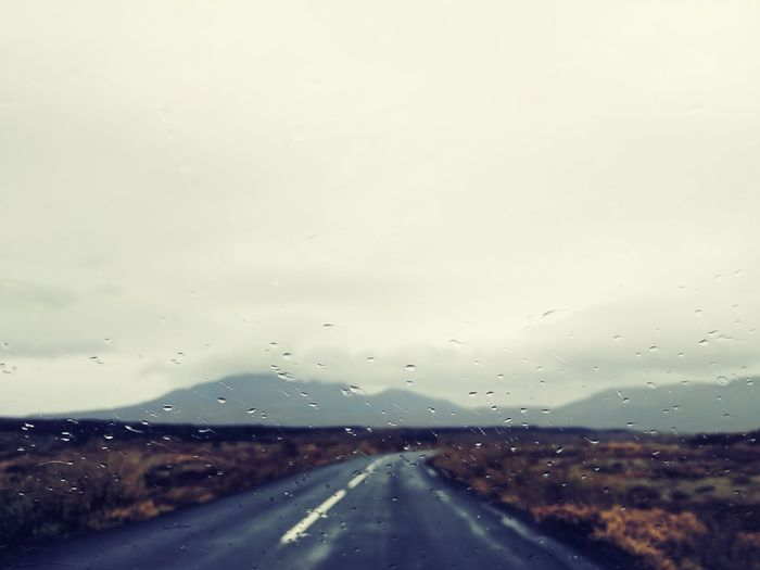 Icelandic Roads Road Drop Car Point Of View Highway Windshield Illuminated Sky Travel Cloud - Sky