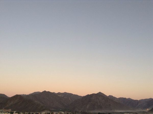Landscape No People Clear Sky Sky Scenics Mountain Range Fujairah Not Filter