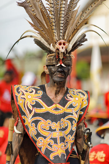Tatung Singkawang Parade during Chap Goh Meh festival. Borneo Chap Goh Meh Chap Goh Mei Dayak Kalimantan Barat  Parade Pontianak Ritual Rituals & Cultural Singkawang Tatung Traditional Traditional Clothing Traditional Costume Traditional Culture