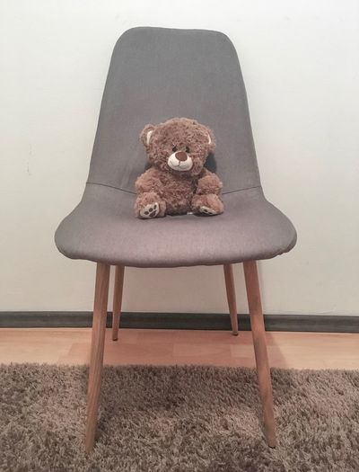 Seat Chair Indoors  Wall - Building Feature Toy Stuffed Toy No People Home Interior Furniture Domestic Room Wood - Material Built Structure Table Sitting Sofa Teddy Bear Art And Craft Absence