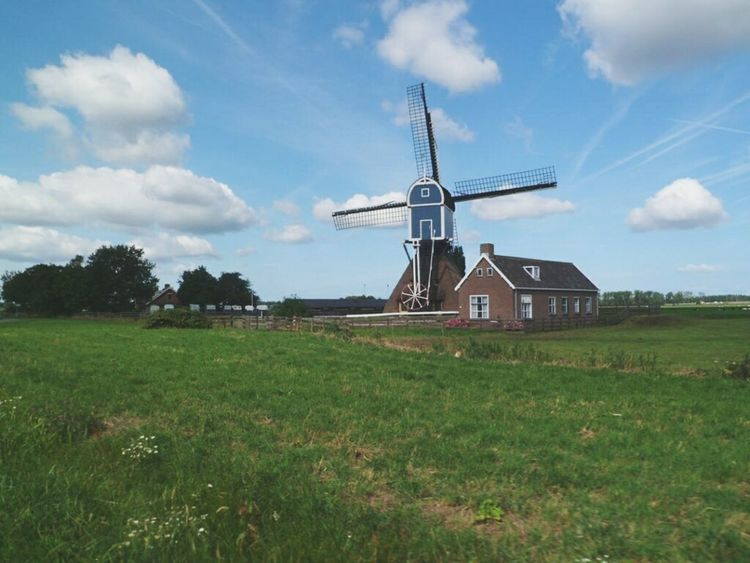 Blue Wave Blue Wave Sky Holland Mulino Wind Windmill Countryside Photo Photography Photographer Photooftheday Photographic Memory Happy Happiness Green Greenfields