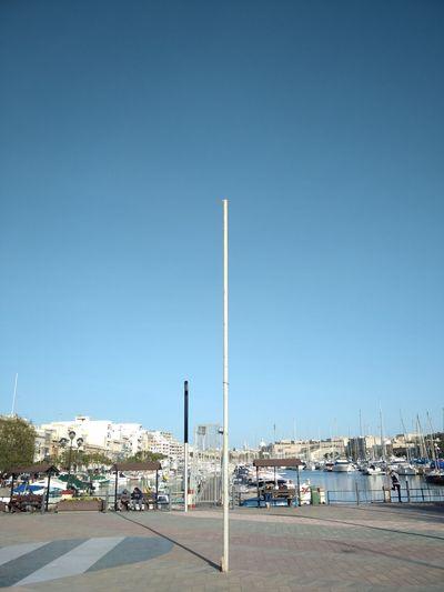 Malta Msida Msida Marina Sky Architecture City Street Light Clear Sky Street Blue Transportation Mode Of Transportation Copy Space Sunlight Marina Day