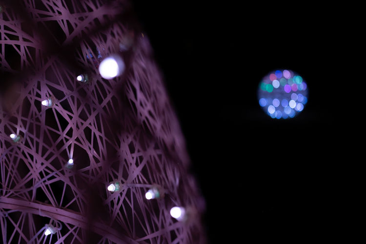 Beautiful lights Illuminated Night Lighting Equipment No People Low Angle View Light Glowing Decoration Indoors  Electricity  Light - Natural Phenomenon Celebration Technology Pattern Electric Light Multi Colored Close-up Circle Lens Flare Geometric Shape Dark Black Background Nightlife Purple Ceiling