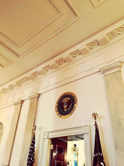 White House Low Angle View Built Structure Hanging Architecture Indoors  No People Day Obama Obama2012 Democrat Republican Politics