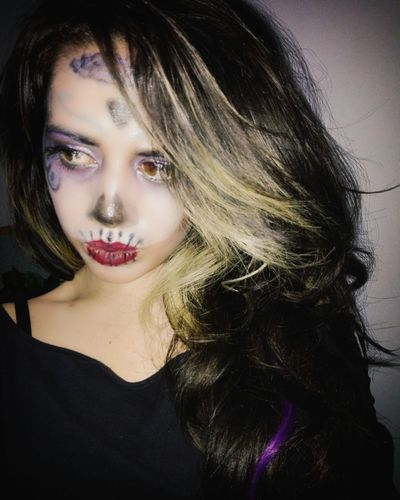 Only Women Beautiful Woman Beauty Glamour Beautiful People People Young Adult Females Halloween Makeup Hallloween Calavera  Catrina Hello World Its Me Abii Sykes Sixx