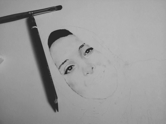 A portrait drawing of a fb friend. Draw Drawing Art Artistic Artist Portrait Drawing Pencil Drawing Eye Drawing Blackandwhite Pencilart