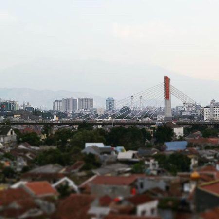 Over the bridge. Panorama Bandung INDONESIA Pasupati Buildings Bridge IDon 'tknowhwattoputhere