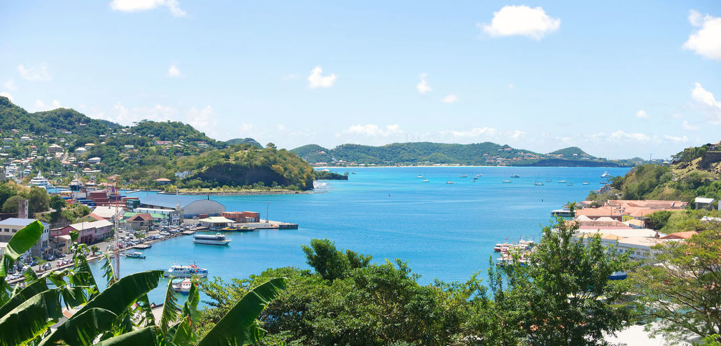 Caribbean sea - Grenada island - Saint George's - Inner harbor and Devils bay Atlantic Caribbean Sea Devils  Grenada Harbor Saint George Antilles Architecture Bay Beauty In Nature Caribbean Day Inner Island Mountain Nature Ocean Outdoors Scenics Sea Sky Tranquility Tree Tropical Water