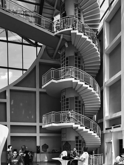 Architecturelovers Architecture_bw Stairs_collection Stairs Stairway To Heaven Architecture Built Structure Group Of People Real People Day Large Group Of People Leisure Activity Low Angle View Arts Culture And Entertainment