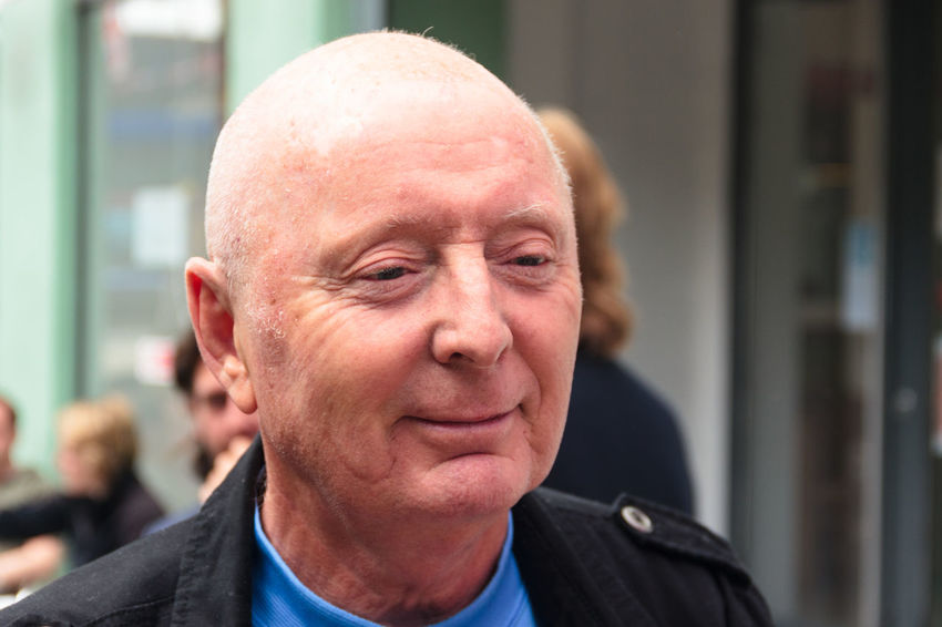 Shot of Jasper Carrott taken at The Custard Factory in Birmingham while having a drink with friends Adult Adults Only Celebrity Celebrity Sighting Close-up Comedian Day Entertainer Headshoot Headshot Mature Adult Mature Men Men One Man Only One Person Only Men Outdoors People Person Portrait Real People Stage Street Portrait Television Industry