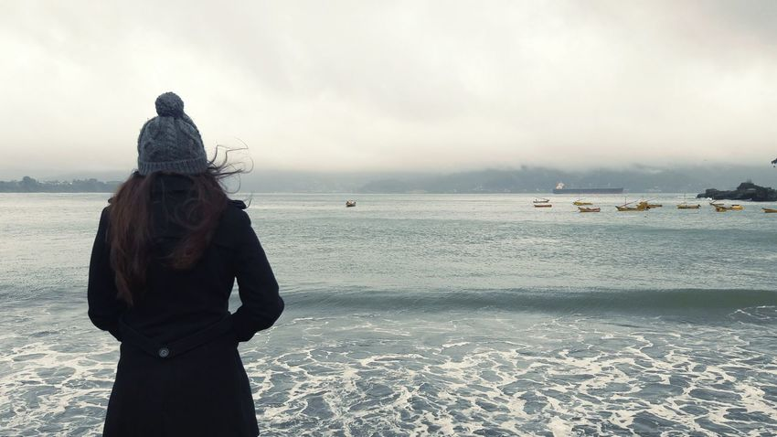 Chile Taking Photos Check This Out Hello World Tranquil Scene Enjoying Life Beautiful View Ocean Girl Winter Fashion