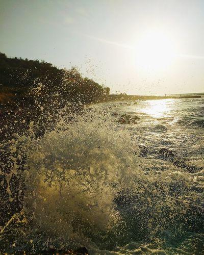Sunset Sun Freshness Sea Sunlight Water Beauty In Nature No People splash First Eyeem Photo