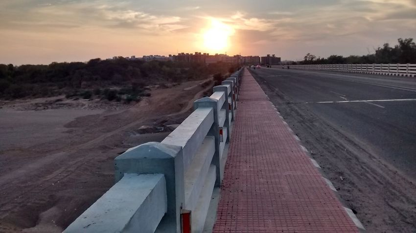 Beauty In Nature Bridge Nature No People Outdoors Road Sky Sunset