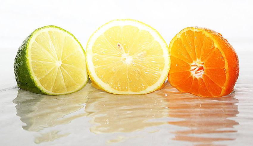 Friut art reflection in water Citrus Fruit Healthy Eating Fruit Studio Shot Lemon Juicy Halved Sour Taste Freshness Close-up Heathly Fresh Feeling Splash Healthy Food Healthy Lifestyle Art Gallery Water Fresh On Eyeem  Water Splash Orange