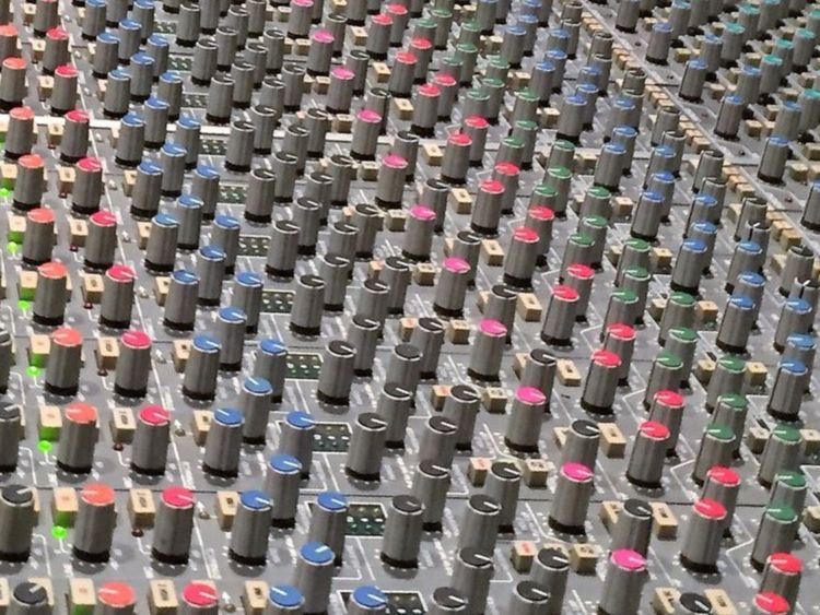 Soundboard Music Industry Music Engineering Knobs Buttons Keyboard Close Up Buttons Indoors  Close-up