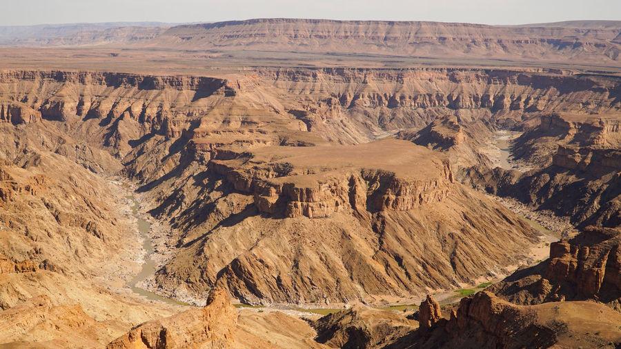 Scenic view of desert landscape