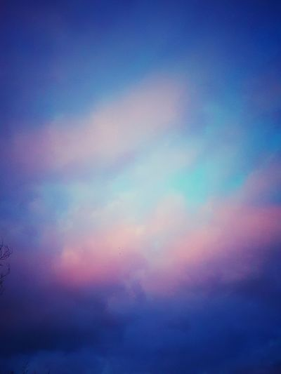 Space Multi Colored Backgrounds Illuminated Defocused Sunset Blue Sky Only Pastel Colored Galaxy Meteorology Cumulonimbus Magenta Heaven Cloudscape