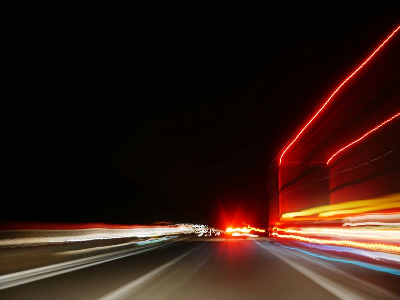 Light Trail Speed Transportation Night Illuminated Traffic Car Long Exposure Motion Road Driving Headlight Blurred Motion Outdoors No People Vehicle Light City Sky Lines Urban Mobility In Mega Cities HUAWEI Photo Award: After Dark