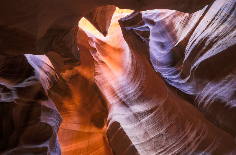 Low angle view of a rock formation
