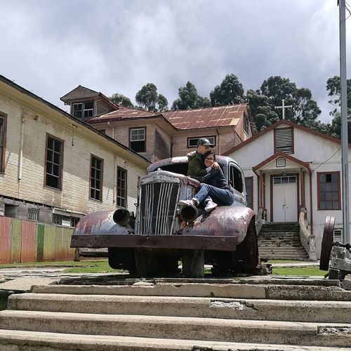 Sanatorium Old Buildings Ruins Cartago,Costa Rica Sanatorio Durán  Tuberculosis Hospital Old Car Mother And Son Sitting Sky Architecture Building Exterior Built Structure