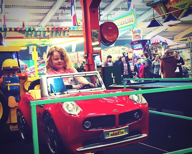 Taking Photos Funfair Children Amateurphotography Daughter DayOutWithFamily