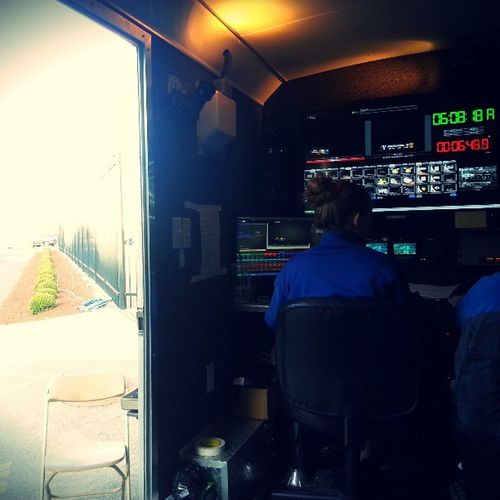 View of some Sun out of the Swx trailer for Gü Baseball Tvbroadcast with @afgallant