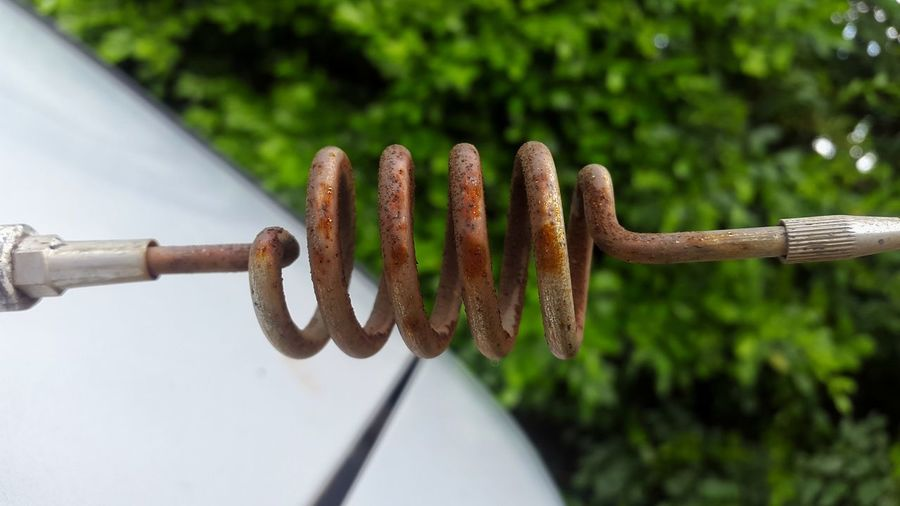 No People Close-up Outdoors Day Nature Antenna Spiral Rusty Rusty Metal Oxidation Oxidated Metals