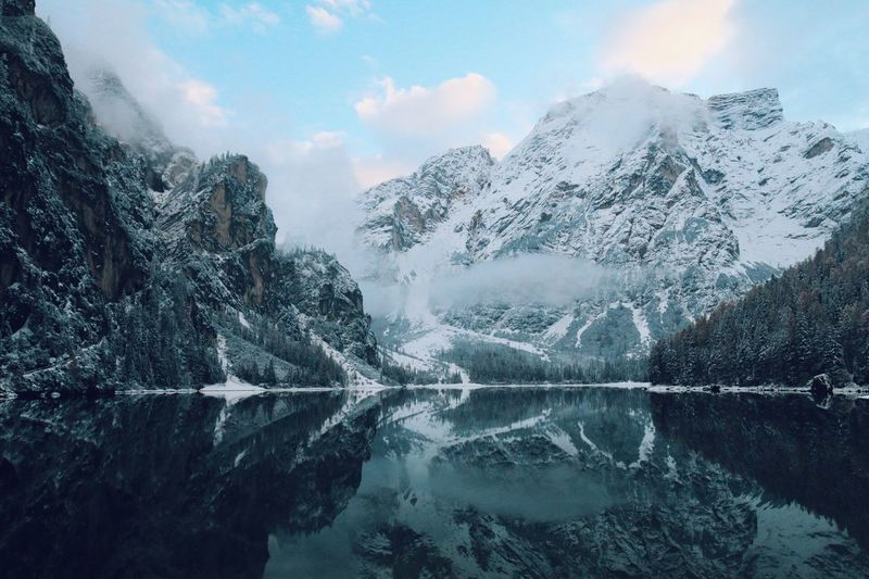 Water Beauty In Nature Scenics - Nature Cold Temperature Winter Mountain Nature