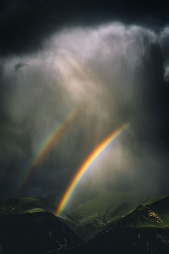 Cloud Nature Seda Sichuan Storm Beauty In Nature China Cloud - Sky Dobble Rainbows Light And Shadow Mountain No People Outdoors Rainbow Shower Sky Storm Cloud Weather Lost In The Landscape