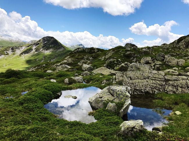 Mountain Alps Water Reflection Rhône Alpes Sky Nature Beauty In Nature Cloud - Sky Landscape Outdoors Day No People Scenics