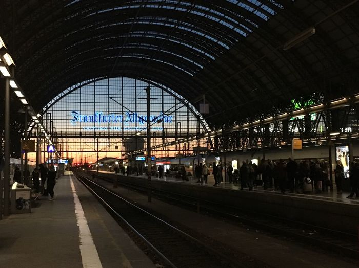 Railroad Station Platform Railroad Station Large Group Of People Travel Rail Transportation Public Transportation Transportation Railroad Track Train - Vehicle Passenger Men Clock Arch People Indoors  City Arrival Time Commuter Day