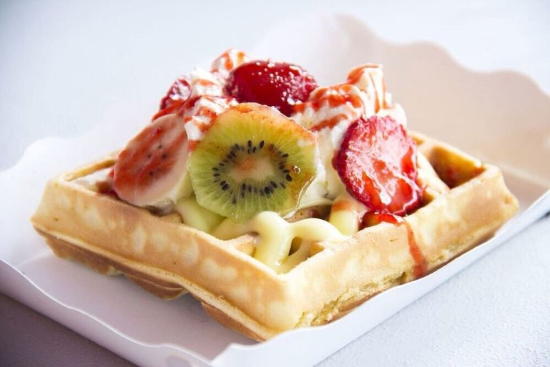 Dessert Time! Passion Fruit Waffle