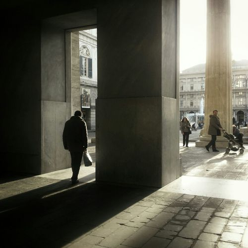 Street Photography Light And Shadow Shadows Phoneography Genoa Snapseed Eye4photography