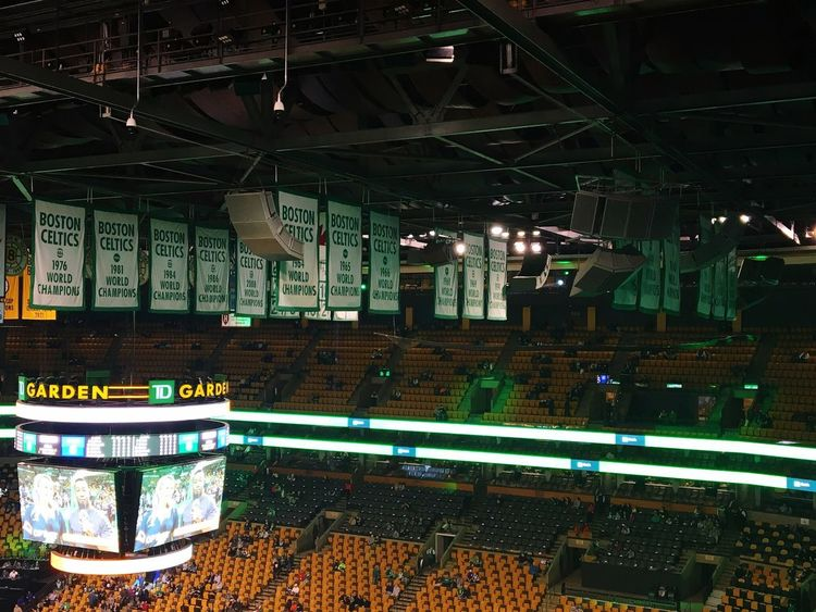 Tradition Celtics NBA Illuminated Indoors  Ceiling Night No People Architecture